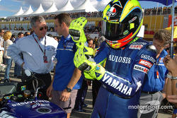 Valentino Rossi on the starting grid