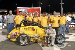 Ron Gregory and crew in victory lane