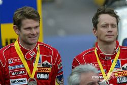 Podium: second place Marcus Gronholm and Timo Rautiainen
