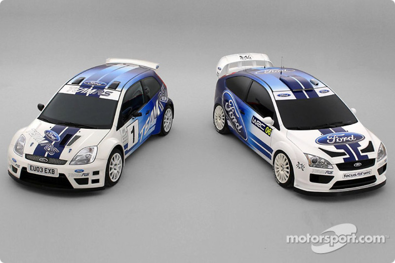 The new Ford Fiesta JWRC Concept and Ford Focus WRC Concept