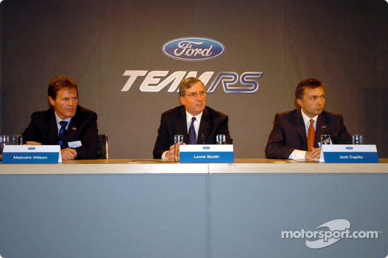 Malcolm Wilson, Lewis Booth and Jost Capito