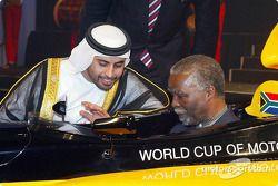 His Highness Sheikh Maktoum Hasher Maktoum Al Maktoum (UAE) CEO A1 Grand Prix and South African President Mbeki (RSA)