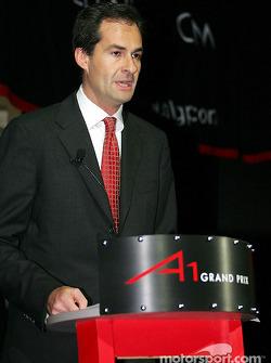 Brian Menell (RSA), partenaire de l'A1 Grand Prix et un businessman sud-africain