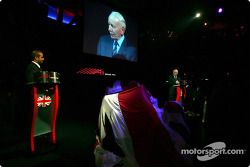 Sheikh Maktoum Hasher Maktoum Al Maktoum (UAE) CEO and President of A1 Grand Prix and John Surtees (