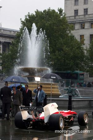 The A1 Grand Prix car in Trafalgar Square