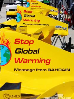 Mensaje de Bahrein para el GP de Hungría: 'Detener el calentamiento Global'