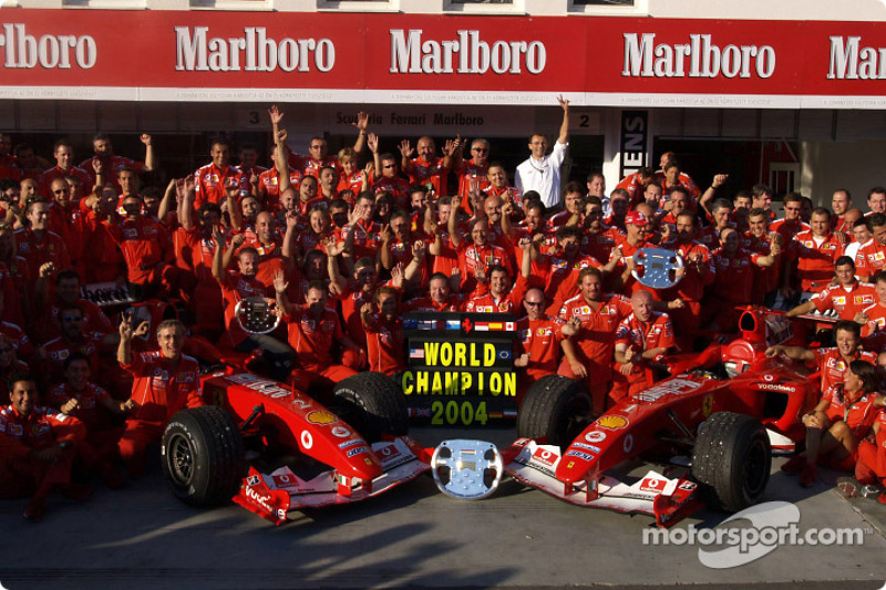 Ferrari 6 şampiyonluk (1999, 2000, 2001, 2002, 2003, 2004)