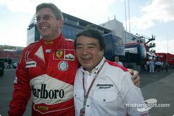 Ross Brawn y de Bridgestone, Hirohide Hamashima