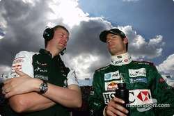 Mark Webber on the starting grid