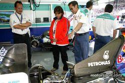 VIP konukları Sauber garajı area