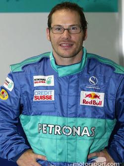 Moulage du baquet de Jacques Villeneuve à l'usine Sauber à Hinwil : Jacques Villeneuve