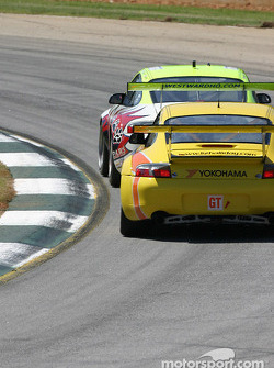 #31 White Lightning Racing Porsche 911 GT3 RSR: Craig Stanton, David Murry, Michael Petersen, #60 PK Sport Porsche 911 GT3 RS: Ian Donaldson, Piers Masarati, Liz Halliday
