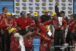 Victory lane: race winner Dale Earnhardt Jr. celebrates with his crew