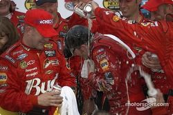 Victory lane: Bud shower for Dale Earnhardt Jr.
