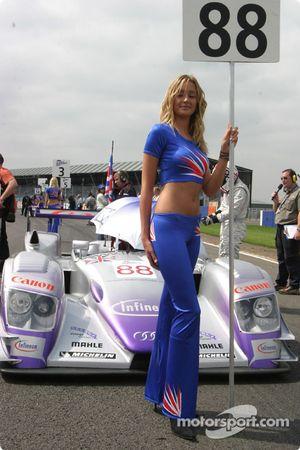Une Grid Girl Audi Sport UK Team Veloqx