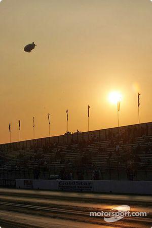 Sunset at Pomona Raceway