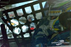 Marcos Ambrose prepares for his shot at pole