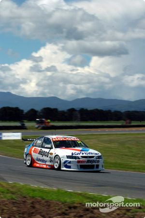 Garth Tander on his shoot out lap