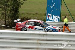 Rick Kelly couldn't start his car after spinning