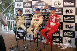 Conférence de presse de la 2e étape : François Duval, Sébastien Loeb et Harri Rovanpera