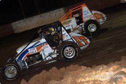 Mike Martin et Le pilote de Sprint Car de Hawaii Gary Costa