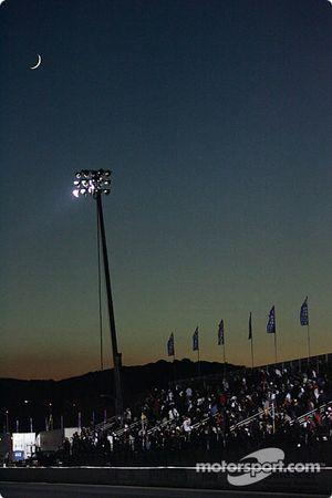 Moonlight over Pomona Raceway