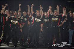 L'équipe U.S. Army fête la victoire