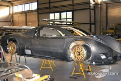 The new Picchio Daytona Prototype in preparation in the Picchio Racing Cars shop in Italy