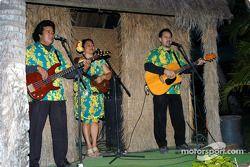 Hawaiian musicians at post-event luau