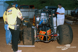 USAC officials inspect Hawaii sprinter Ben Apuna's car