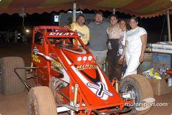 John Carney, Sr., Casey Minks, Don Grable and crew