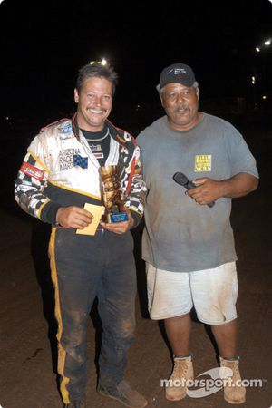 Jerry Apana awards Charles Davis, Jr. for Friday night feature win
