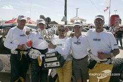 Michel Jourdain Jr. celebrates victory