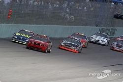 Kurt Busch and Greg Biffle behind the pace car