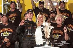 2004 NASCAR NEXTEL Cup champion Kurt Busch celebrates with his team