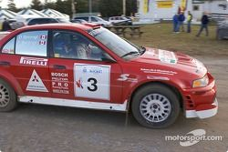Frank Sprongl et Daniel Sprongl, Mitsubishi Lancer Evo VI, 2000