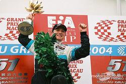 Podium: race winner Alexandre Premat