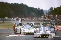 #5 Martini Lancia LC2-83/85: Анри Пескароло и Мауро Бальди, #33 Fitzpatrick Porsche Team Porsche 956: Дэвид Хоббс, Йо Гартнер и Гай Эдвардс