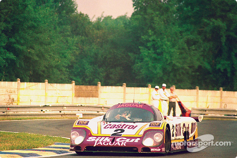#2 Silk Cut Jaguar Jaguar XJR-9: Jan Lammers, Johnny Dumfries, Andy Wallace