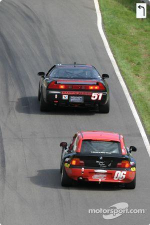 #51 DAL Motorsports Acura NSX: Pete Halsmer, Robert Morrison, Vaughn Duarte, #06 ICY / SL Motorsports BMW Z3: Alan Himes, Rick Ellinger, David Rosenblum