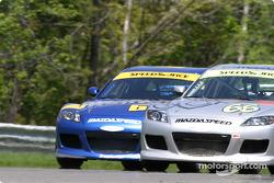 #67 SpeedSource Mazda RX-8: Nick Fanelli, Rich Walker, #66 SpeedSource Mazda RX-8: Marcelo Abello, Benoit Theetge
