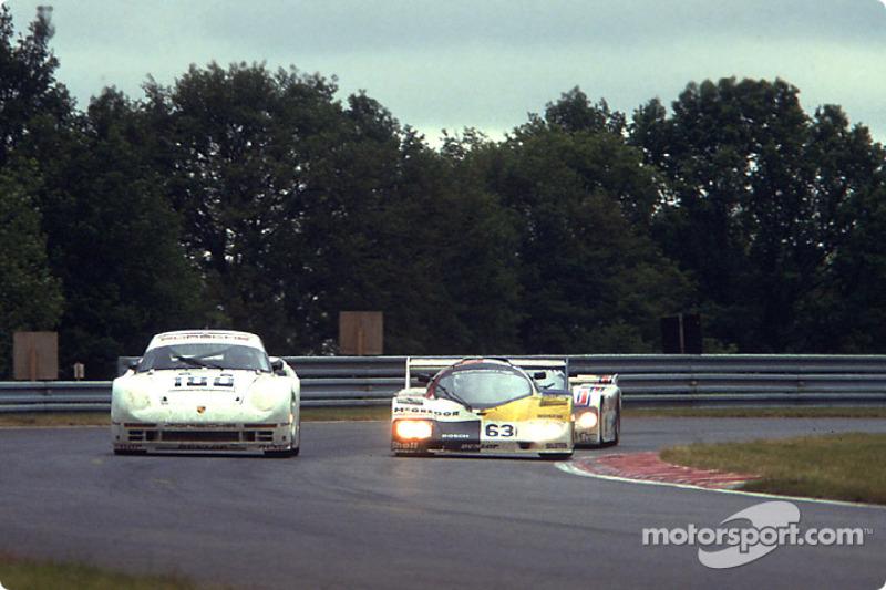 #180 Porsche AG, Porsche 961: René Metge, Claude Ballot-Léna; #63 Ernst Schuster, Porsche 936 CJ: Siegfried Brunn, Ernst Schuster, Rudi Seher