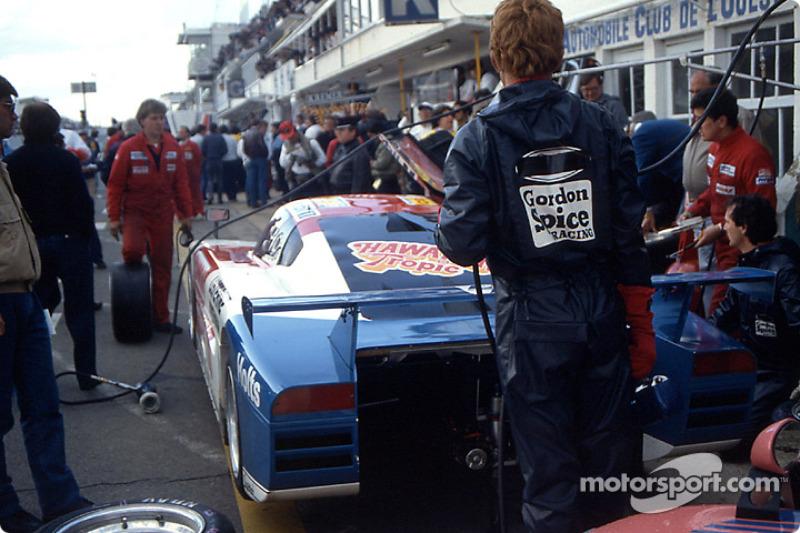 Boxenstopp: #70 Spice Engineering Spice SE86C Ford: Gordon Spice, Ray Bellm, Jean-Michel Martin