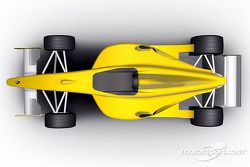 Rendering of the Formula Renault 3.5 single seater to compete in the 2005 World Series by Renault ch