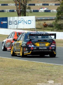 Max Wilson follows Paul Weel down the back straight