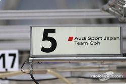 Audi Sport Japan Team Goh pit sign