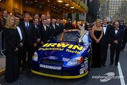 The over the wall team poses for photos prior to the start of the 2005 NEXTEL Cup Banquet