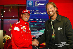 Michael Schumacher and Fredrik Johnsson