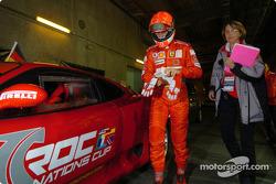 Michael Schumacher gets ready for a few demo laps