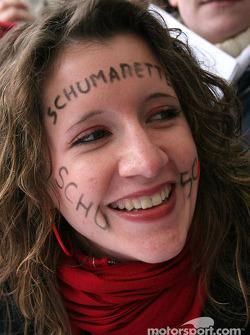 A fan of Michael Schumacher